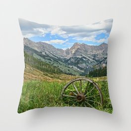 Colorado Rockies Secluded Lake Throw Pillow