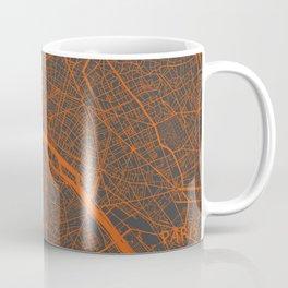 Paris Map #4 orange Coffee Mug