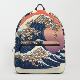 The Great Wave of Shiba Inu Backpack