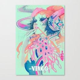 Virgo-digital mix Canvas Print
