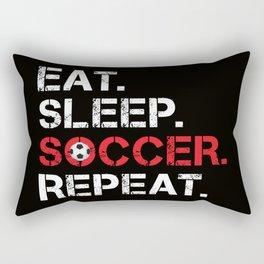 Eat. Sleep. Soccer. Repeat Rectangular Pillow