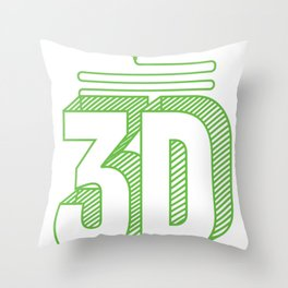 3D Printing Gift Funny 3D Print CNC CAD CAM Fan Art product Throw Pillow
