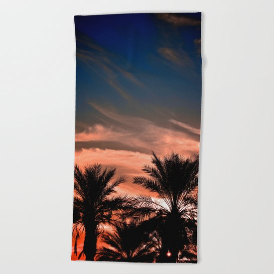 Palm Sunset Beach Towel