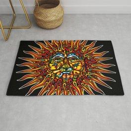 Psychedelic Sun Rug