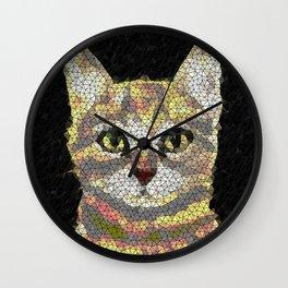 cat poly Wall Clock