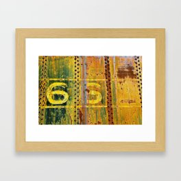 66 Framed Art Print