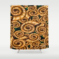 shells Shower Curtains featuring Shells by Marven RELOADED