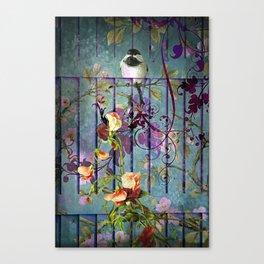 Over the garden gate Canvas Print