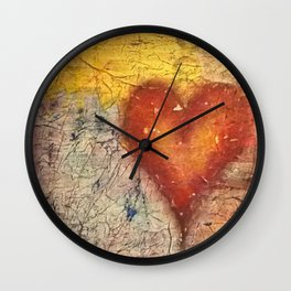 A Frayed Heart Wall Clock