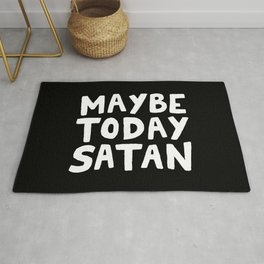 Maybe Today Satan Rug
