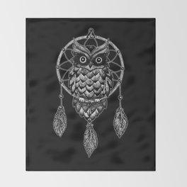 Dream Catcher Owl Throw Blanket