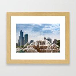 Buckingham Fountain In Chicago Framed Art Print