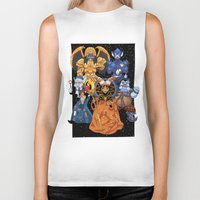 power rangers Biker Tanks featuring Villains in Mighty Morphin Power Rangers by Bowserina