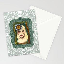 blue sunflower Stationery Cards