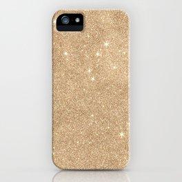 Gold Glitter Chic Glamorous Sparkles iPhone Case