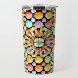 Candy Rainbow Mandala Travel Mug