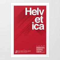 helvetica Art Prints featuring Helvetica by Cohen McDonald