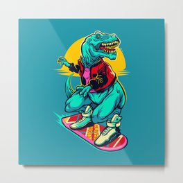 Rex to the future Metal Print