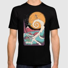 Surf Before Christmas Black MEDIUM Mens Fitted Tee
