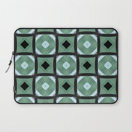 Brooks green and black geo square pattern Laptop Sleeve