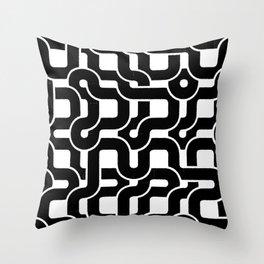 Orion (Black on white) Throw Pillow