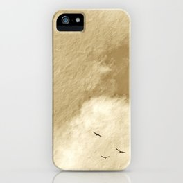 """""""April Clouds #13 – Seagulls"""" with poem: Tribute iPhone Case"""