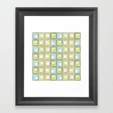 English Country Tiles. Framed Art Print