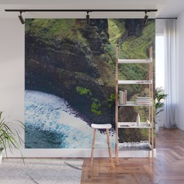 Coastal Cliffs Hawaiian Tropical Beach Wall Mural