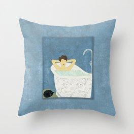 Bathtub Scene Throw Pillow