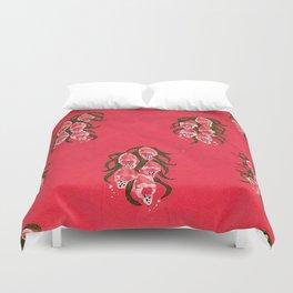 Foxgloves in Red Duvet Cover