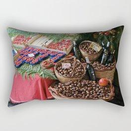 Fruit and Wine Rectangular Pillow