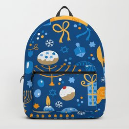 Hanukkah Happy Holidays Pattern Backpack