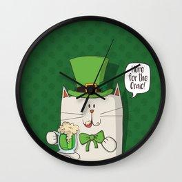 Irish cat Wall Clock