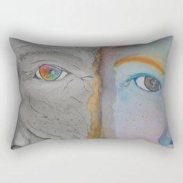 Look of the soul Rectangular Pillow