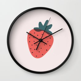 Strawberries Wall Clock