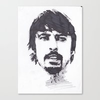 dave grohl Canvas Prints featuring Dave Grohl by Chris Bird