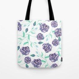 Purple Rose Bush Tote Bag