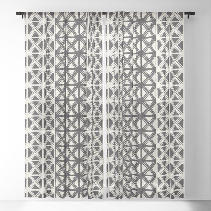 B&W Tribal Sheer Curtain