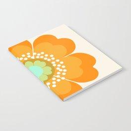 Jivin' - 70's retro throwback art floral flower motif decor hipster Notebook