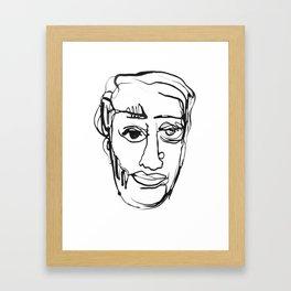 FACES / 003 Framed Art Print