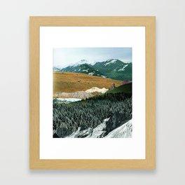 Experiment am Berg 21 Framed Art Print