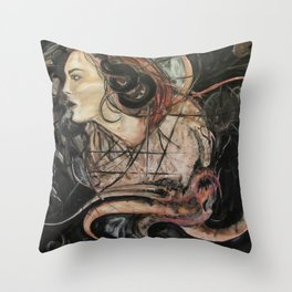 Fury and the Angel Throw Pillow