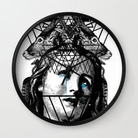 pain Wall Clocks featuring PAIN by DIVIDUS DESIGN STUDIO
