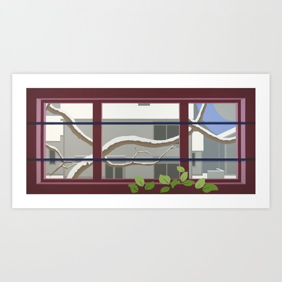 Locust Branches Art Print