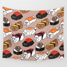Sushi Poodle Wall Tapestry