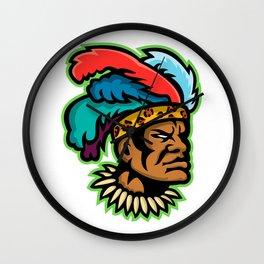 Zulu Warrior Head Mascot Wall Clock