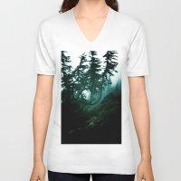 twilight V-neck T-shirts featuring Twilight by Christine Workman