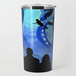Europa Space Travel Retro Art Travel Mug