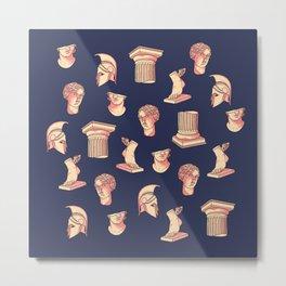 Greek classical statues pattern Metal Print