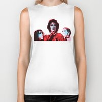 rocky horror picture show Biker Tanks featuring The Rocky Horror Picture Show - Pop Art by William Cuccio aka WCSmack